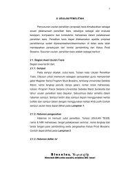 Bab II Usulan Penelitian - PROGRAM PASCASARJANA PRODI ...