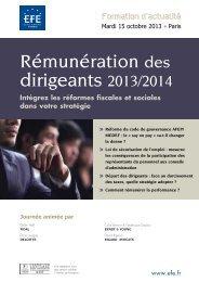 Rémunération des dirigeants 2013/2014 - Rigaud Avocats