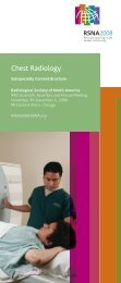 Chest Radiology - RSNA 2008 - Radiological Society of North America