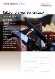 Tailleur graveur sur cristaux - Institut National des Métiers d'Art