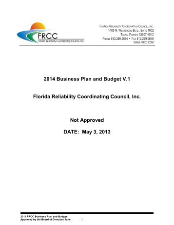 Frcc regional reliability standard development 2014 frcc business plan and budget v1 nerc publicscrutiny Image collections