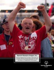Special Olympics Oregon, Inc.