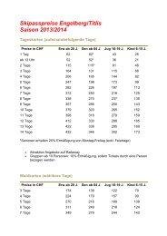 Engelberg – Titlis Skipasspreise Saison 2012 / 2013