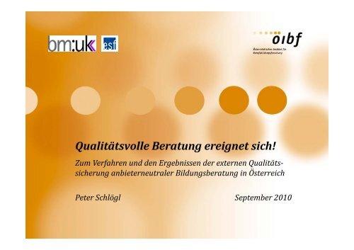 Präsentation Peter Schlögl - Bfi