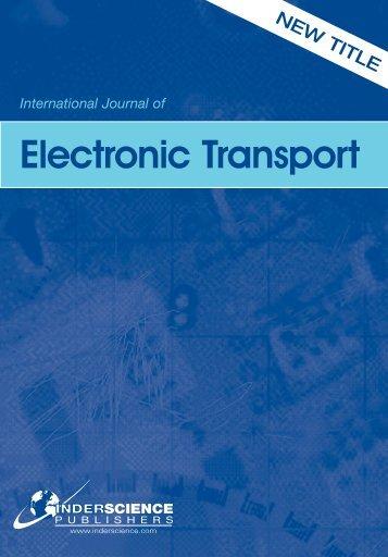 International Journal of Electronic Transport
