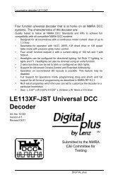 LE113XF-JST Universal DCC Decoder - Lenz USA