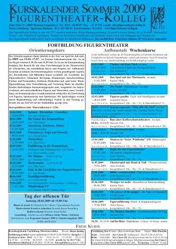 Kurskalender 2008_22_01_08.qxd - Figurentheater-Kolleg