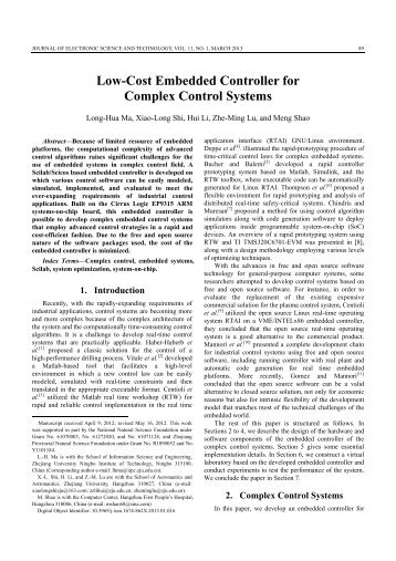 Low-Cost Embedded Controller for Complex Control Systems