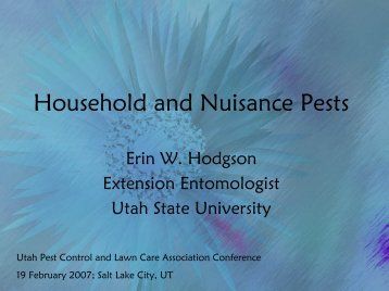 Household and Nuisance Pests - Utah Pests - Utah State University