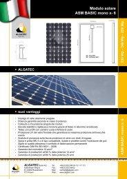 Modulo solare ASM BASIC mono x- 6 230 Wp - Pandora solare