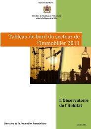 Tableau de Bord 2011.pdf - Ministère de l'Habitat, de l'urbanisme et ...