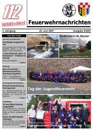 Feuerwehrnachrichten Ausgabe 02-2007 - Neunkirchen, Nahe