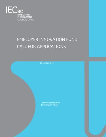 employer innovation fund call for applications - Immigrant ...