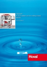 AdiaVent®. Air recirculation unit for cooling closed spaces. - Hoval