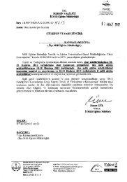 Yazı ve Eki - Mersin İl Milli Eğitim Müdürlüğü - Milli Eğitim Bakanlığı