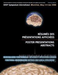 cahier des résumés est disponible - GRSNC - Université de Montréal