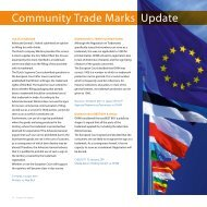 Community Trade Marks Update