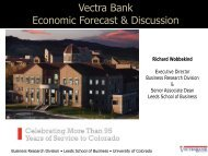 Download PDF of Presentation - Vectra Bank
