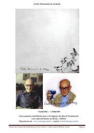 Carlos Drummond de Andrade * 31/10/1902 – + 17/08 ... - Outorga