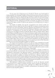 EDITORIAL - Revista Latinoamericana de Estudios de Familia