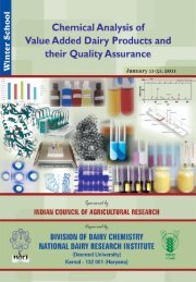 Chemical Analysis of Value Added Dairy Products and Their Quality ...