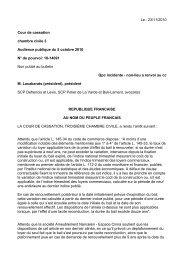 23/11/2010 Cour de cassation chambre civile 3 Audience publique ...