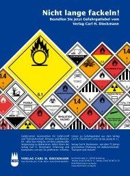 Gefahrzettel, Kennzeichen für Gefahrstoff und Transportschutz ...
