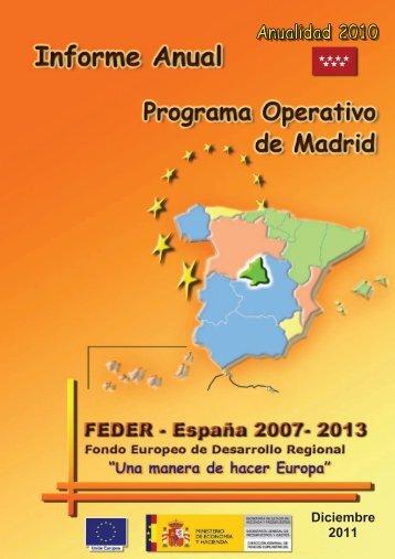 Año 2010 (pdf) - Dirección General de Fondos Comunitarios