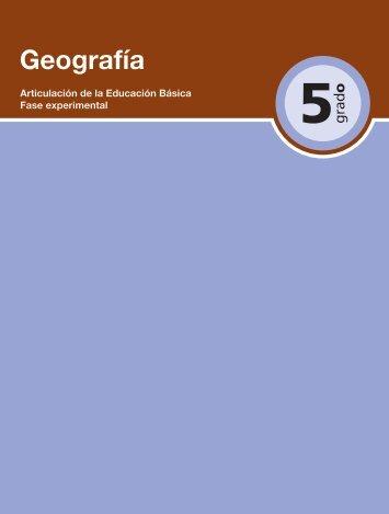 Geografía 5 - Secretaría de Educación del Estado de Chiapas