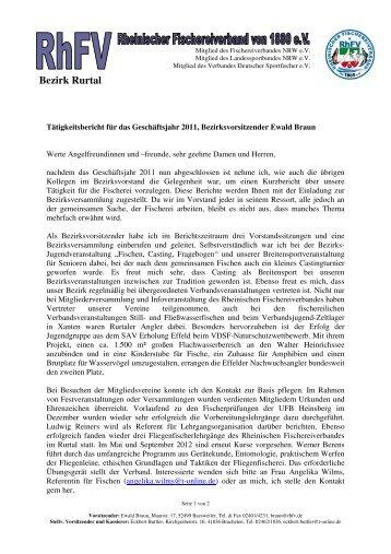 Bezirk Rurtal - Rheinischer Fischereiverband von 1880 eV