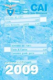 calendario - CAI - sezione di Sesto San Giovanni