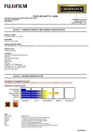Chemwatch Australian MSDS 32-2490 - FUJIFILM Australia