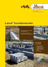 Leca® fundamenter - Weber