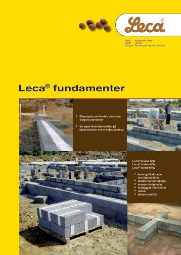 Leca® fundamenter - Weber