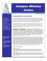 Campus Ministry Online - Mater Dei Catholic High School