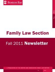 Family Law Section Newsletter - Boston Bar Association