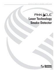 Pinnacle ® -- Laser Technology Smoke Detector - System Sensor