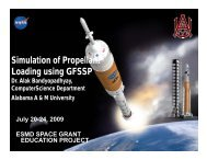 Simulation of Propellant Loading using GFSSP - National Council of ...
