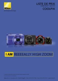 liste de prix - My Nikon