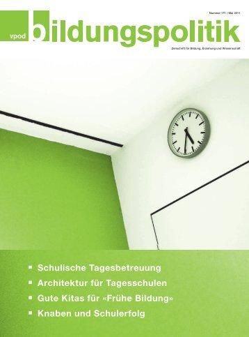 Artikel vpod-bildungspolitik, Heft 171 - Marie Meierhofer Institut für ...
