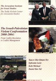 The Israeli-Palestinian Violent C o n f r o n t a t i o n 2000-2004: