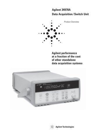 Agilent 34970A Data Acquisition/Switch Unit Agilent ... - H TEST a.s.