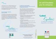 AFNOR Certification - Label Egalité - Un outil pour l ... - Informetiers
