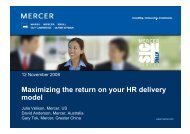 Maximizing the return on your HR delivery model - Mercer Signature ...