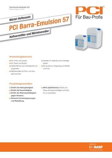 Mörtel-Haftzusatz PCI Barra-Emulsion 57 - Pci-Augsburg Gmbh
