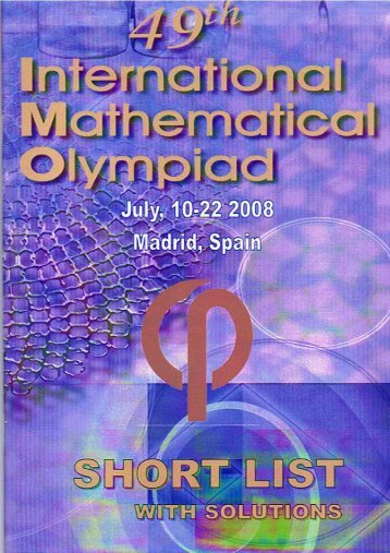 IMO 2008 Shortlisted Problems - International Mathematical Olympiad