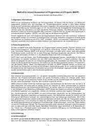 Method for Impact Assessment of Programmes and Projects (MAPP)