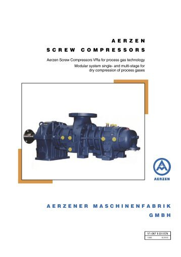 Aerzen Screw Compressors VRa for process gas technology
