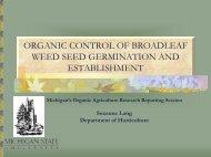 organic control of broadleaf weed seed germination and