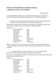 Nõukogu koosoleku e-hääletuse protokoll nr-II-10, 18. jaan ... - KÜSK